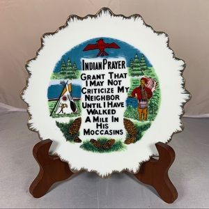 Vintage Porcelain Indian Prayer Native American